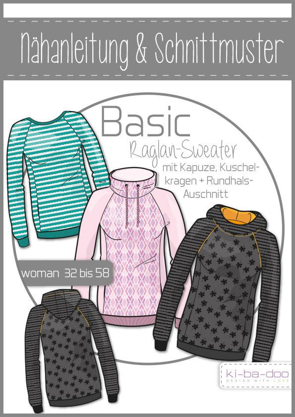 Basic Raglan Sweater, Women