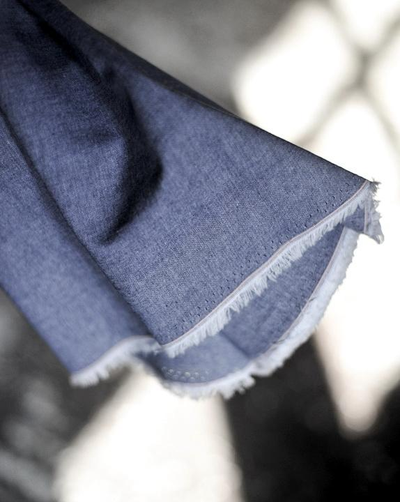 Baumwolle, Cotton Chambray, Denim Blue