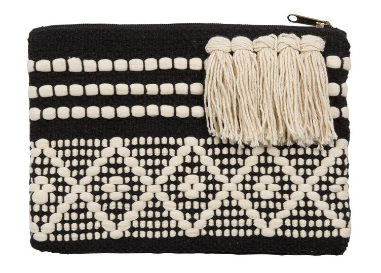 Clutch Kaleido, Black & White