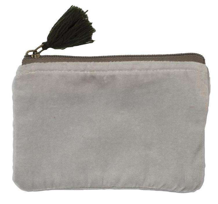 Cosmetic-Bag, Boheme, Light-Grey, 16x10cm