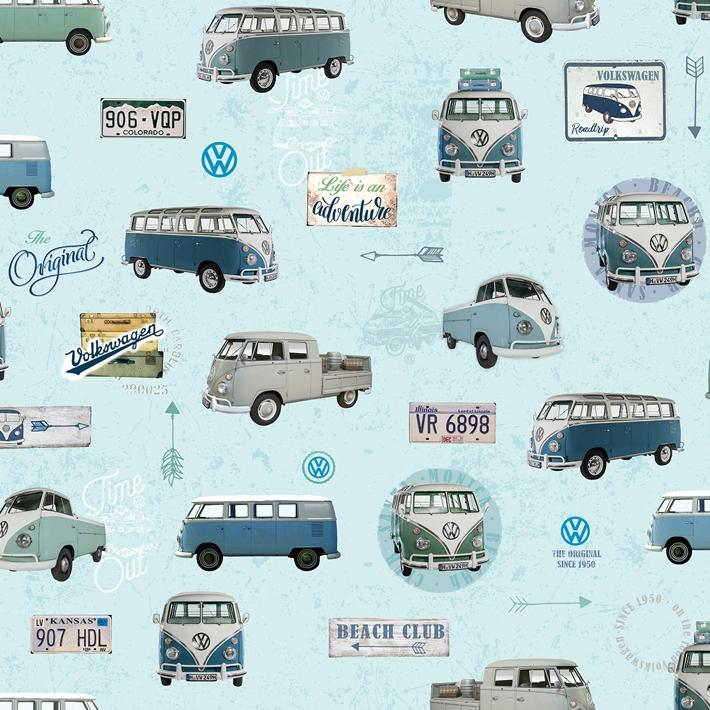 Gobeline, VW Bus, Light Blue