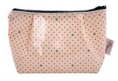 Kleiner Kosmetik-Bag, Dottie Dot Soft-Rose, Au Maison