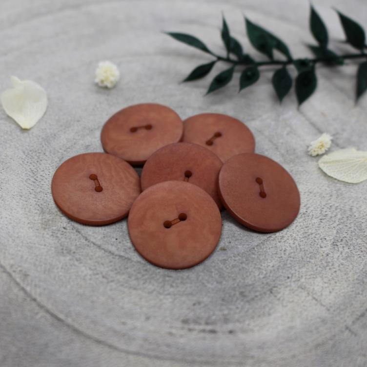 Knopf Palm Buttons, Chestnut, 20mm