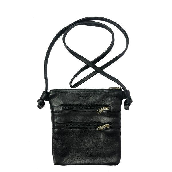 Knotted Bag Small, LEATHER BLACK