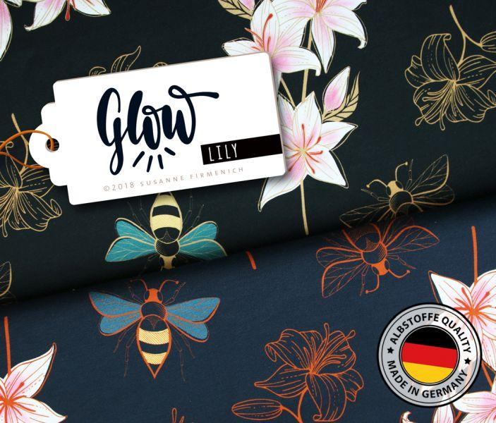 Sommer-Sweat Lily, GLOW Edition, Dunkelblau
