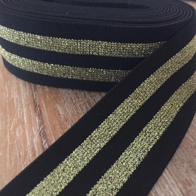StripeMe Band Glam, 2Stripes, Gold/Schwarz, 38mm