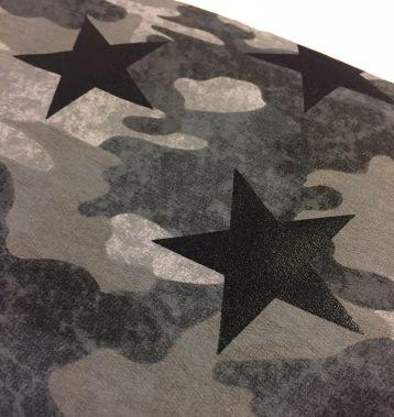 Sweat French Terry, Camouflage mit Stern