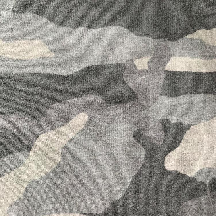 Sweat French Terry, `Classic`Camouflage, grau