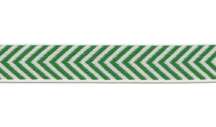 Webband. Herringbone Green