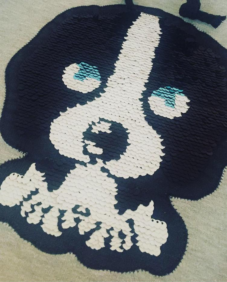 XXL-Wende-Pailletten-Patch, Doggy